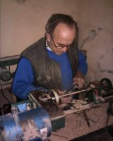 Clive on the lathe
